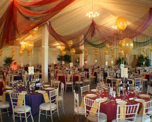 grand barn setup for a birthday party