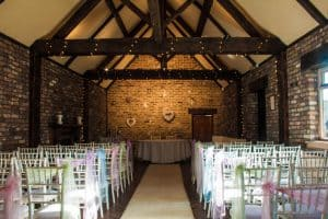 barn ceremony room